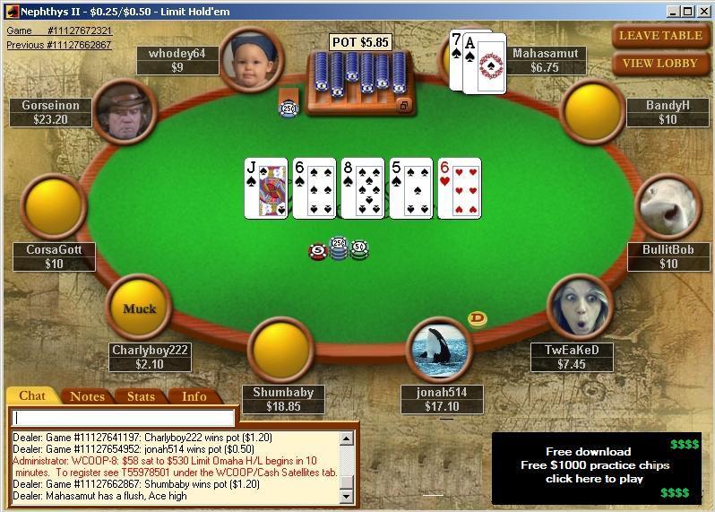 Poker online free texas holdem